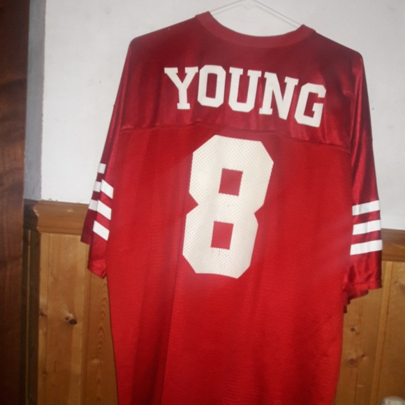 reputable site 37664 326da Logo Athletic 49ers Steve Young jersey; XL